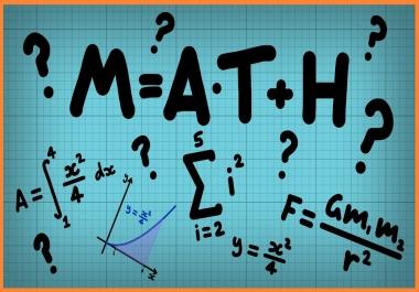 Ma aitan matemaatika ülesannete ja konsulatsioonidega