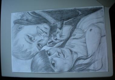 Ma joonistan portrette..