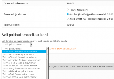 paigaldan Omniva (Post24) plugina sinu Wordpressi baasil e-poele