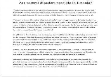 Ma tõlgin teksti eesti keelest inglise keelde või vastupidi. Hind 5 eur 500 sõna kohta. Times new roman fondiga, 12 pt, rööpjoondusega ja reavahega 1.Saan erialaste tekstidega hästi hakkama