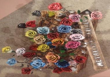 Ma valmistan lehtmetallist roose kingitusteks ja kaunistusteks.