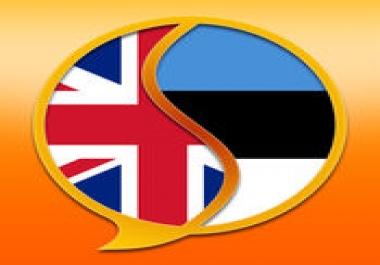 Ma tõlgin suunal Eesti- Inglise ja Inglise-Eesti