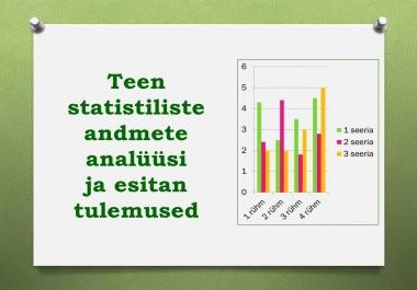 Ma teen statistiliste andmete analüüsi ja esitan tulemused